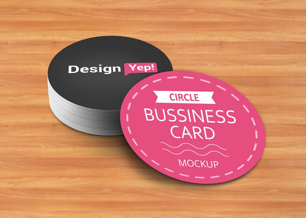 """Check out this @Behance project: """"Free Circle Business Card Mockup ..."""