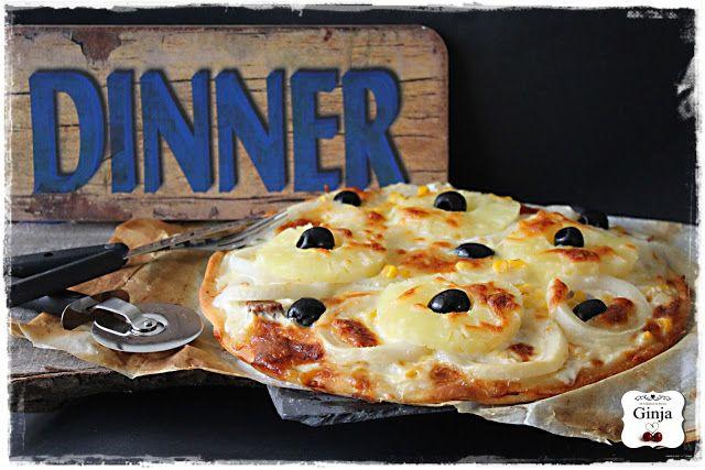As várias faces da Ginja: Pizza de argolas do mar, milho e ananás