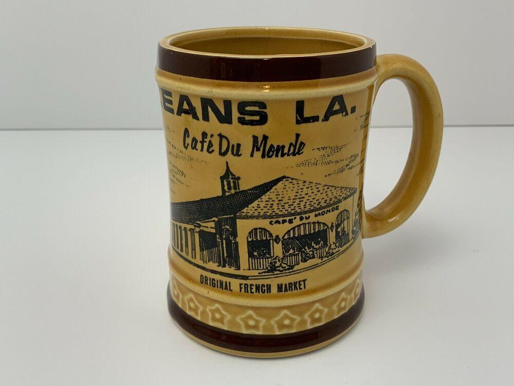 Details about Vintage Cafe Du Monde Coffee Mug New Orleans