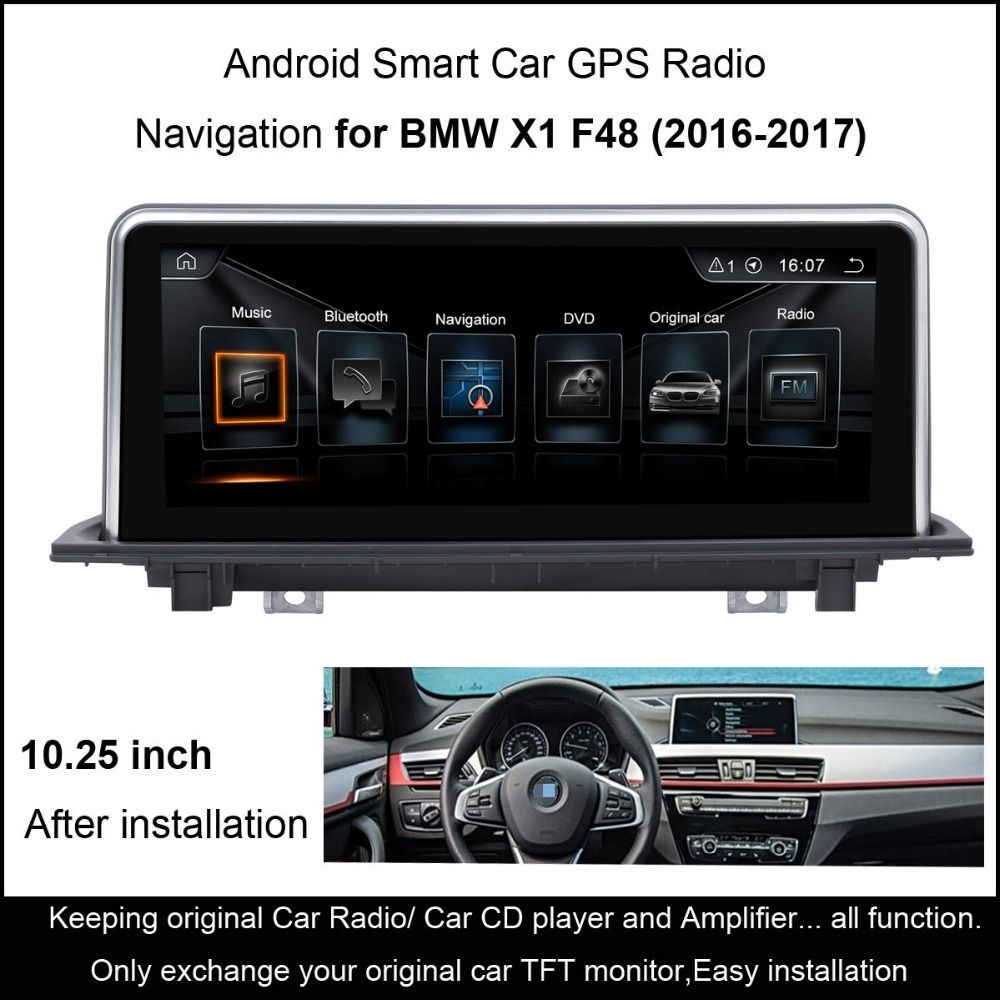 10 25 Touch Android 4 4 Car Gps Navigation For Bmw X1 F48 2016 2017 Radio Audio Stereo Mp5 Player Bluetooth Wifi Mirrorlink Car Electronics Gps Navigatio