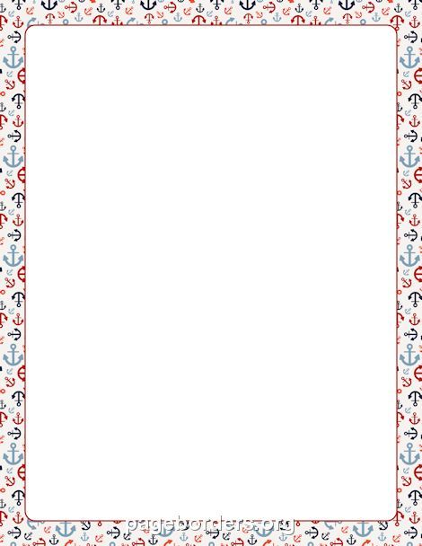 Printable anchor border Free GIF, JPG, PDF, and PNG downloads at - certificate borders for word