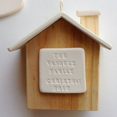 Personalized house ornament from Paloma's nest.