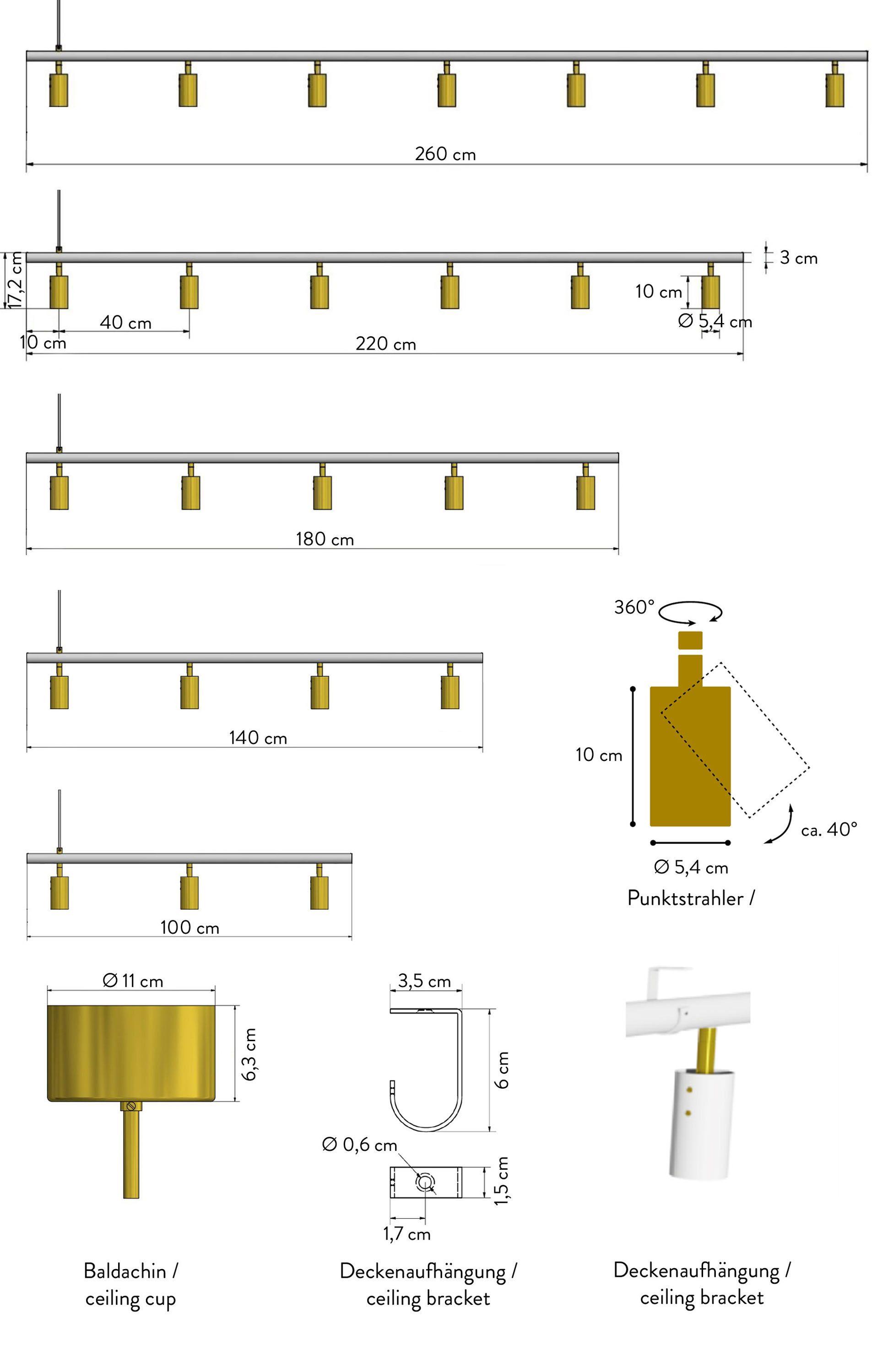 Rubn Long John Pendant Lamp Black Brass Dopo Domani Black