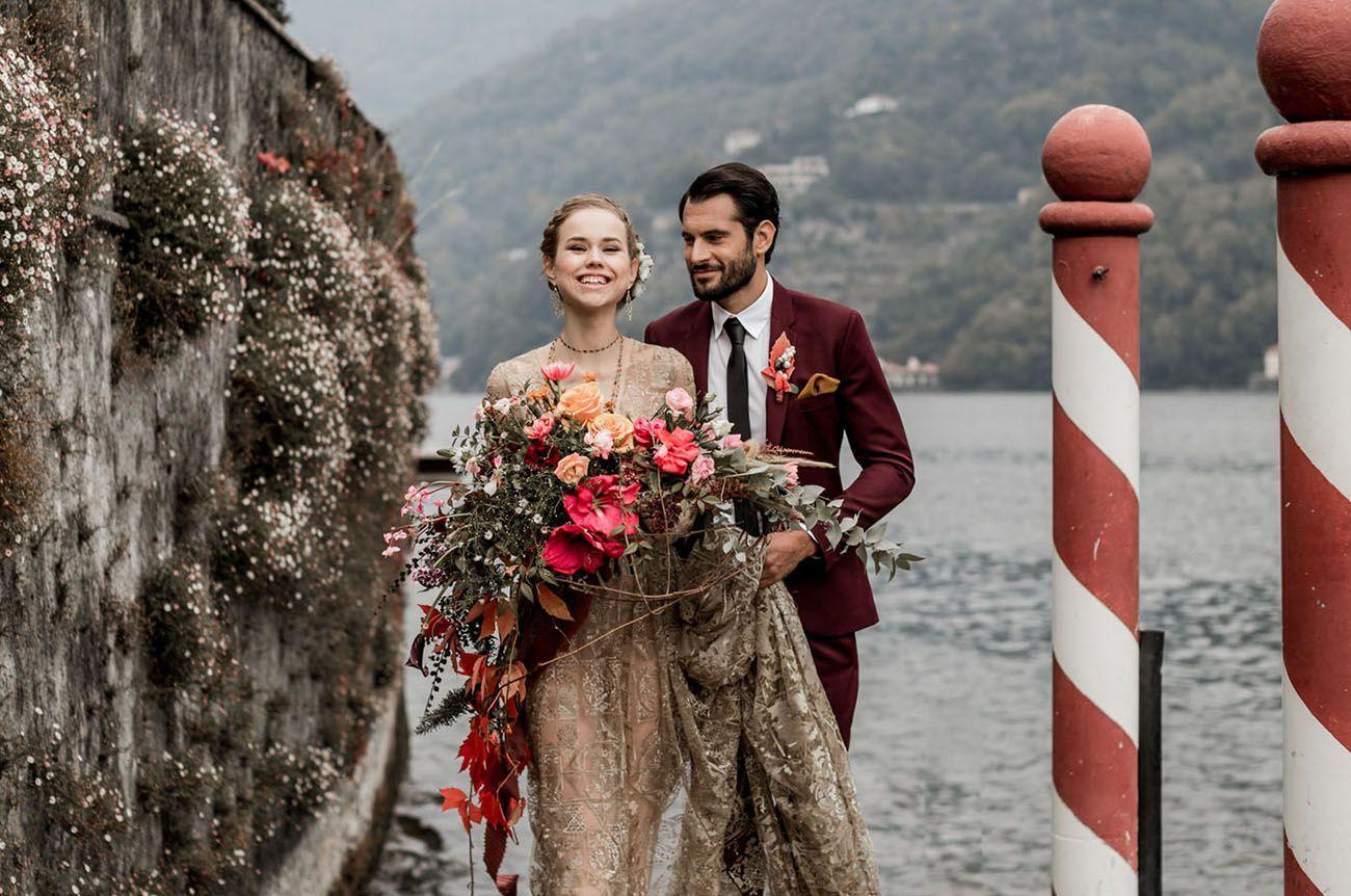 Lake Como Wedding Inspiration #weddingshoes