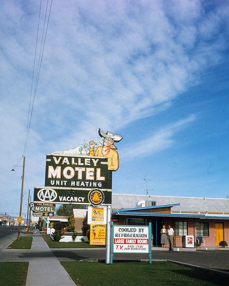 Valley Motel Las Vegas 1957 The Motel Was At 1313 E Fremont