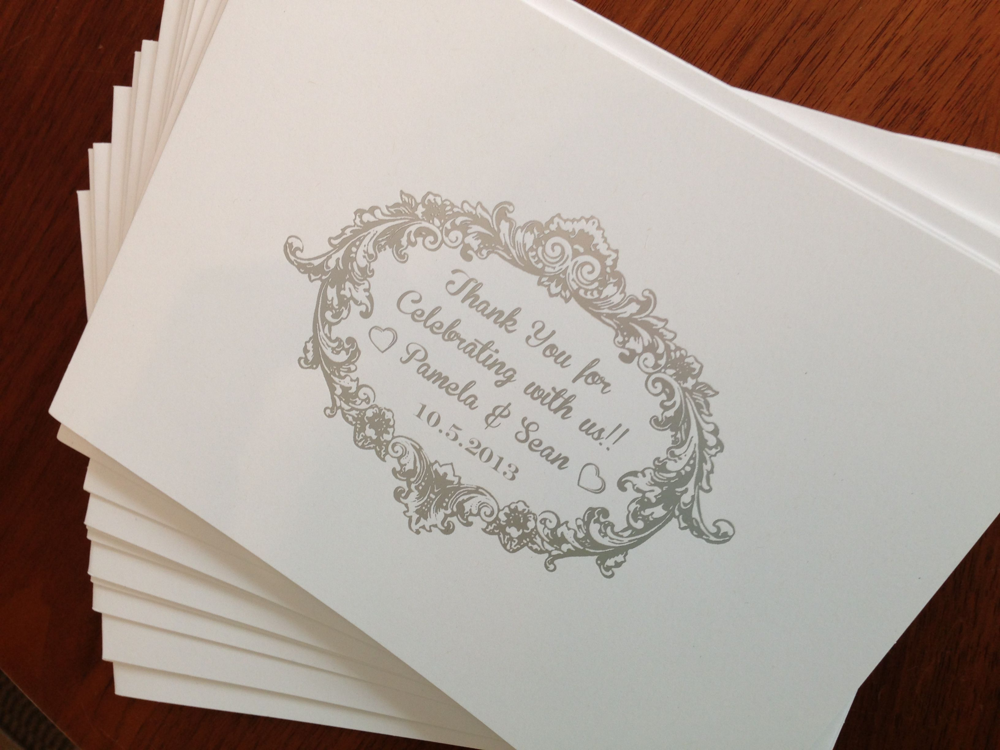 Photo booth folders as favors, personalized thank you for ...