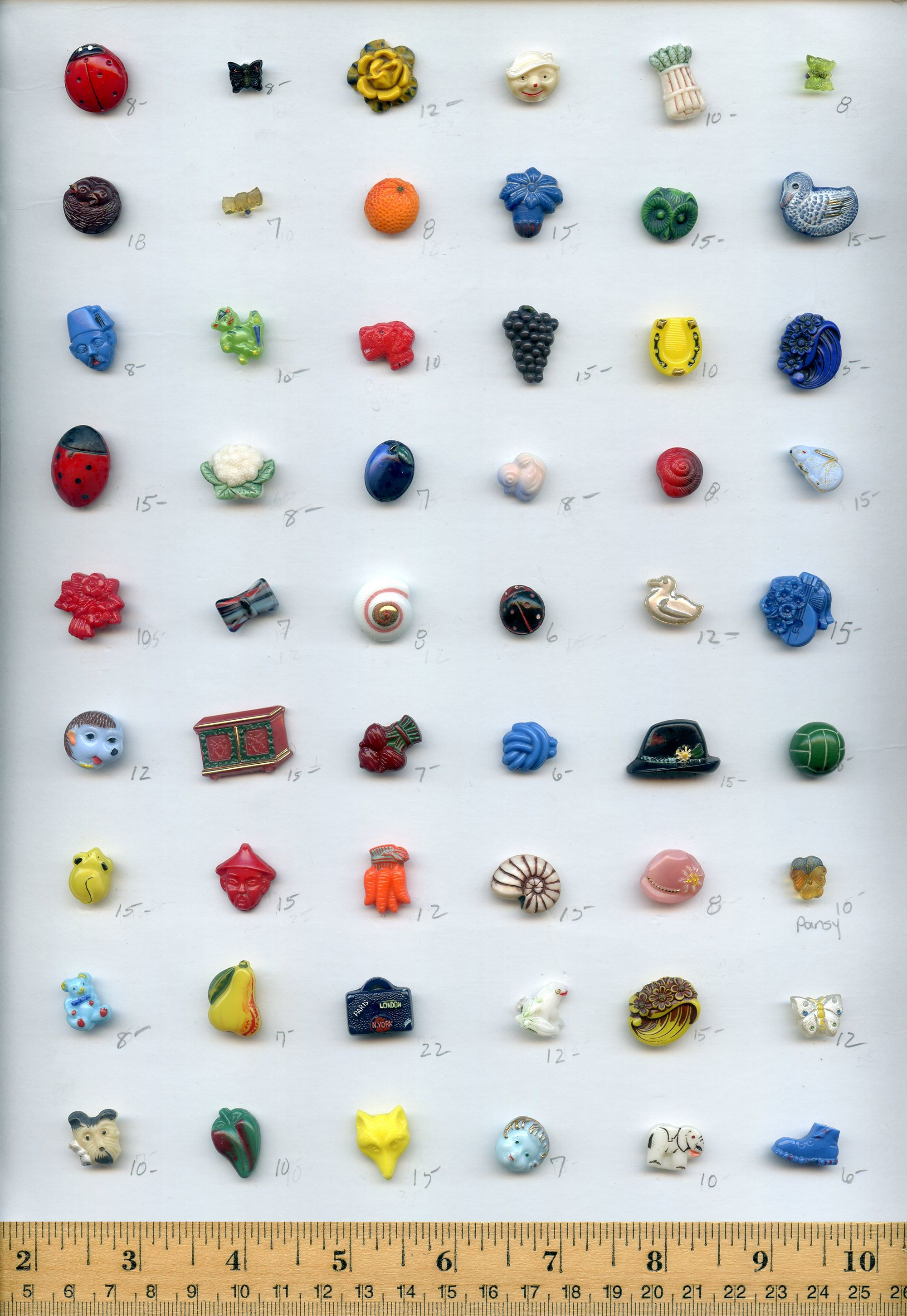 Modern Glass Realistic Buttons Byson Buttons | Antique