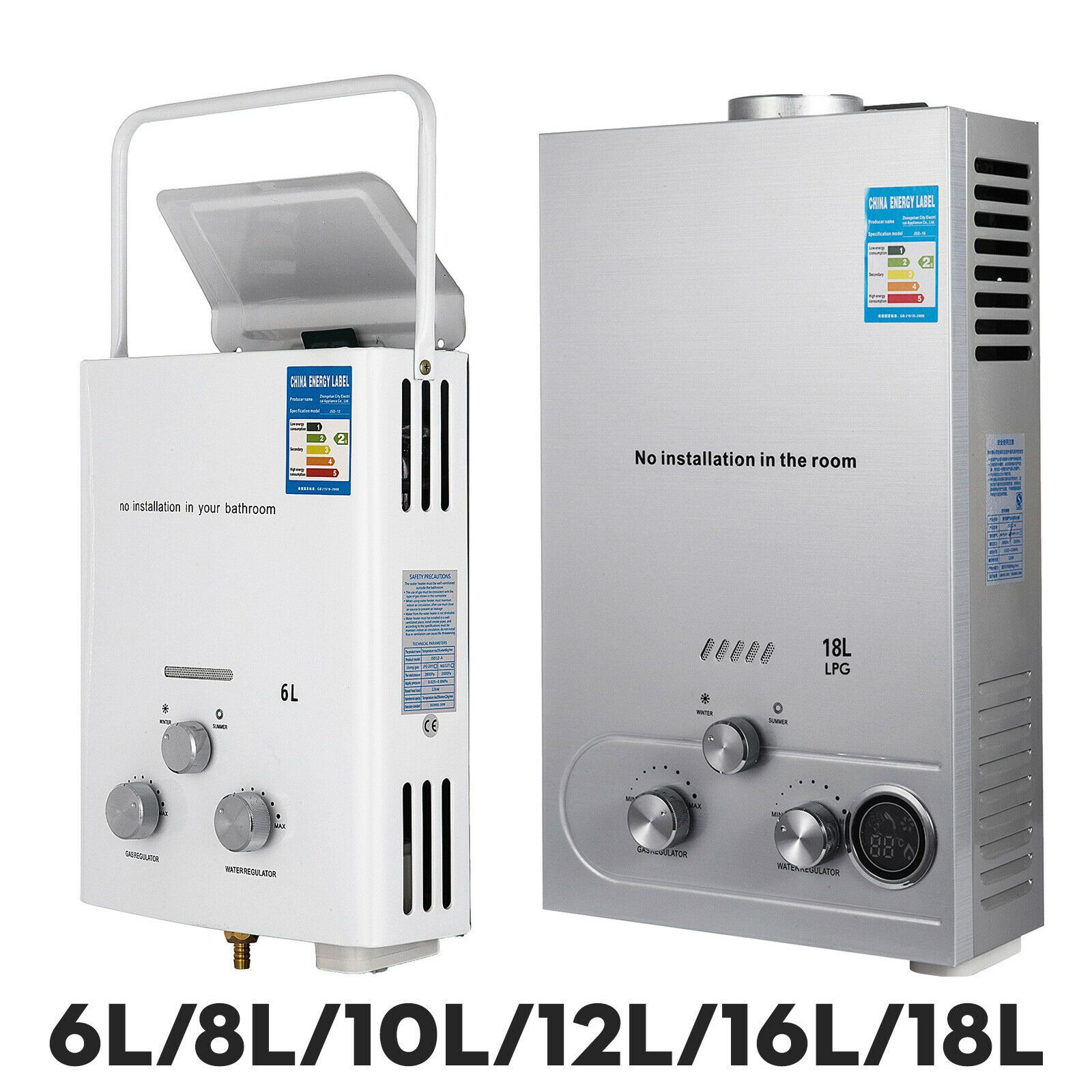 6l 8l 10l 12l 16l 18l Lpg Propane Gas Tankless Hot Water Heater With Shower Kit Tankless Hot Water Heater Water Heater Shower Kits