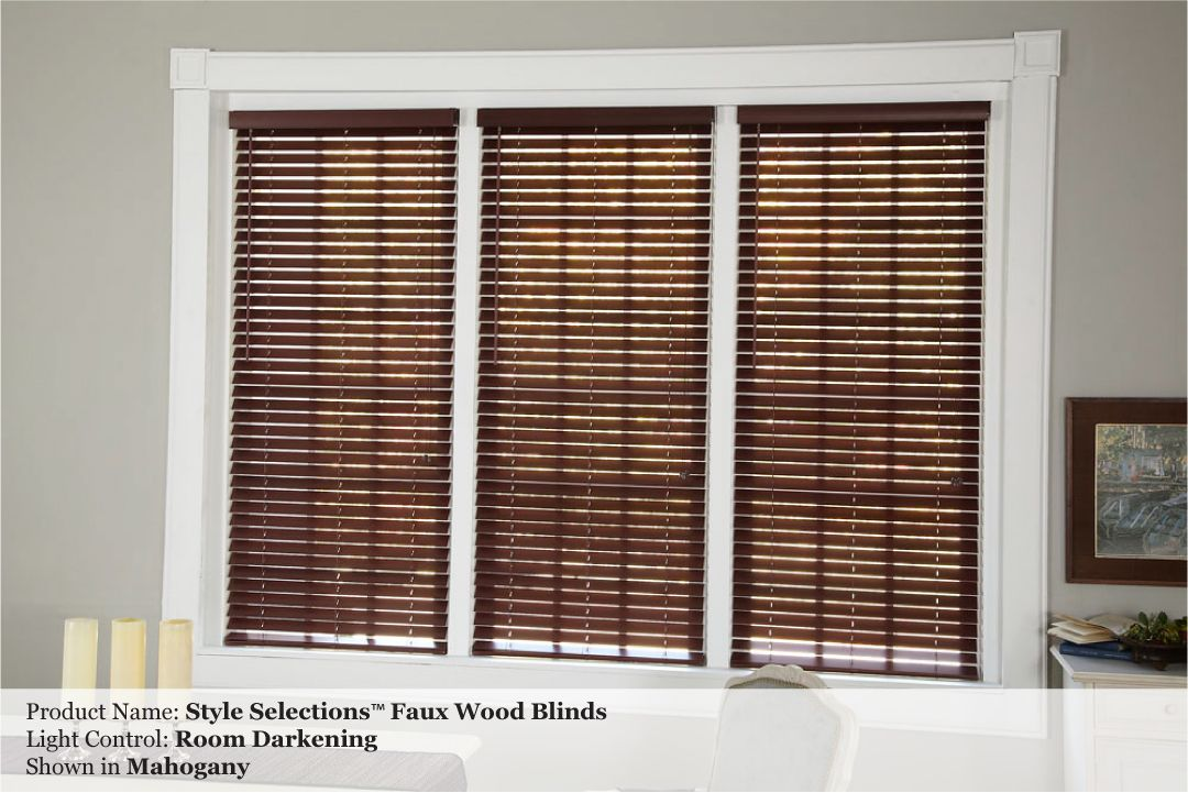 allen roth 2 inch Faux Wood Custom Blinds Photo Gallery Window