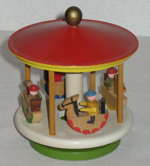 Vintage Erzgebirge wood  moving carousel by sweetalicelovesyou, $39.00
