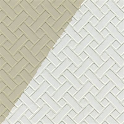 Blue Mountain Wallcoverings LW1343509 Prepasted 20.5 In Textured Mosaic Paintable  Wallpaper