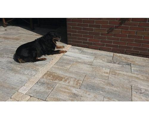 Dalle de terrasse en béton iStone Modern calcaire coquillier 60x30x5 cm - pose dalle terrasse sur beton