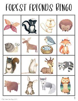 woodland animals bingo game | wald