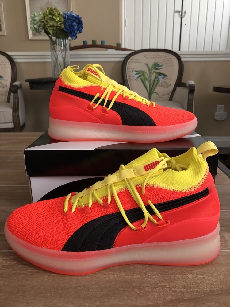 69e52f8835b3 Puma Clyde Court Disrupt Red Blast Yellow Black New SIZE 11.5  fashion   clothing  shoes  accessories  mensshoes  athleticshoes (ebay link)