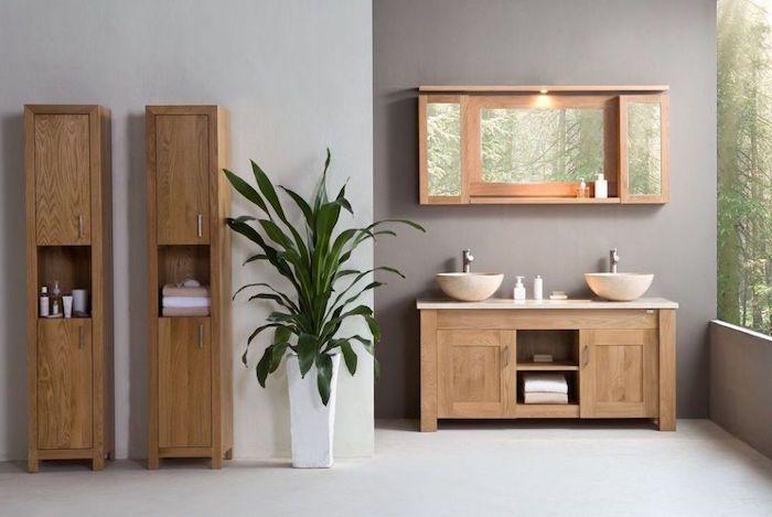 Salle de bain beige et gris u2013 pierre deviendra sable - recouvrir carrelage mural cuisine