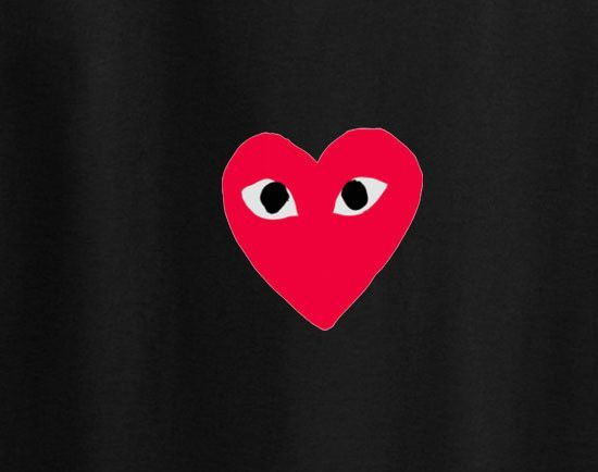 Comme des garcons play heart logo converse trendy woke up ...