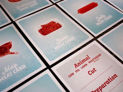 Meat Cards by michellecrum