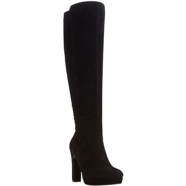 Dune Saylor Knee High Boots ($230) ❤ liked on Polyvore featuring shoes,  boots