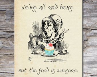 Alice In Wonderland Kitchen Decor | ... Kitchen Decor, Tea Party Decor,