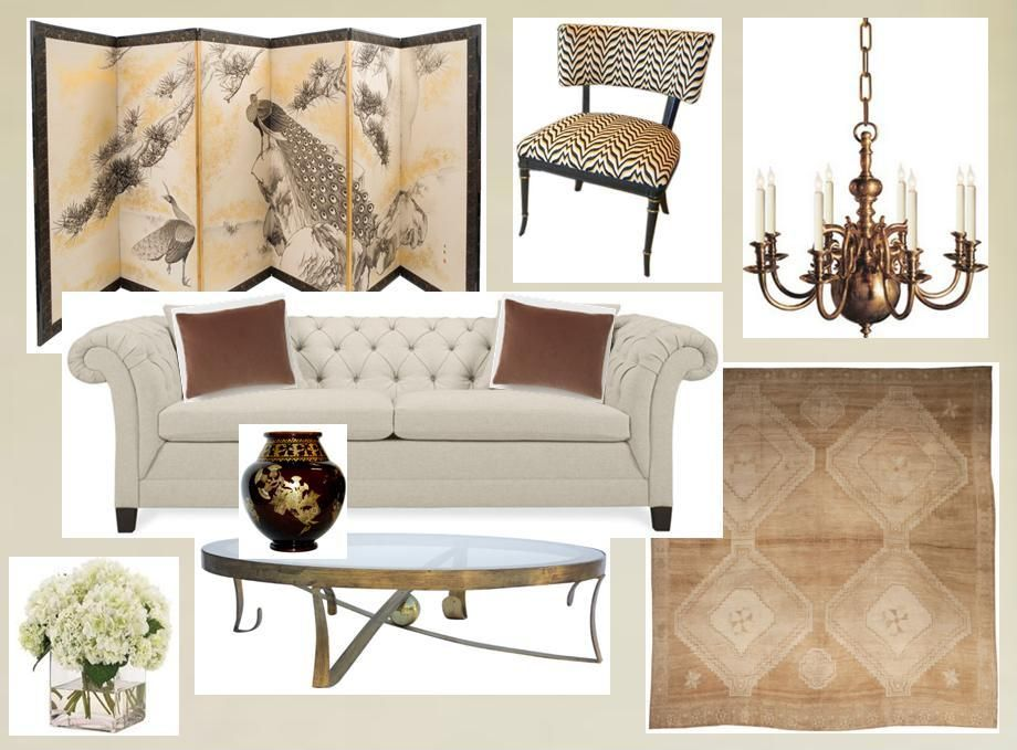 Parisian inspired furniture plan