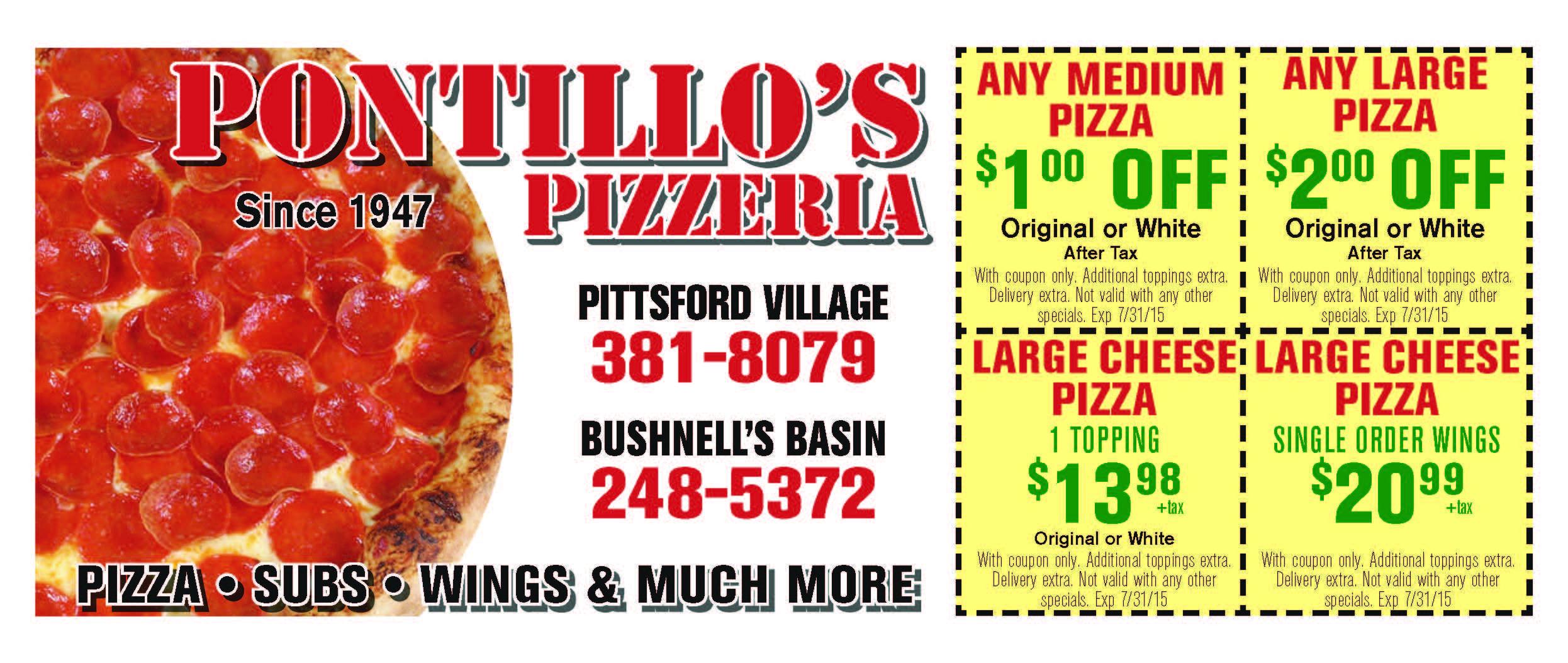 Combo #1 Medium 1-Topping Pizza + 10 PC Wings $25 @ Salvatore's Pizzeria