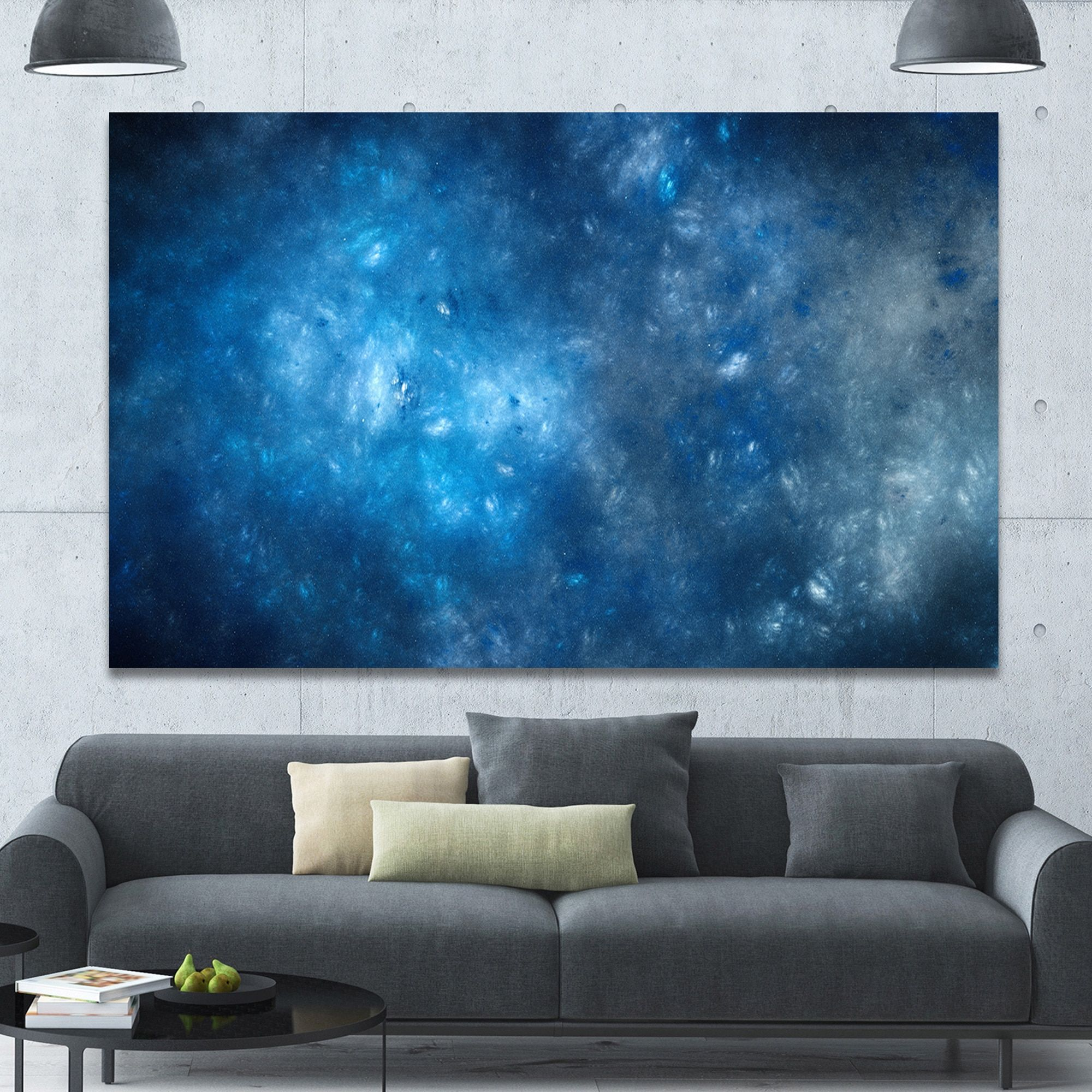 DESIGN ART Designart 'Clear Starry Fractal Sky' Abstract Artwork on Canvas