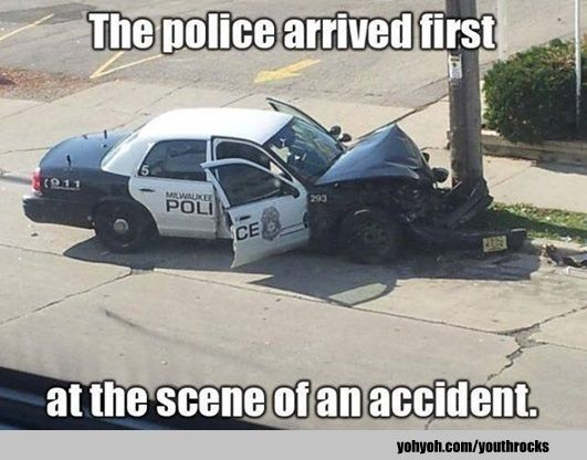 Funny Accident Police Car Oops Funny Accidents Police Humor
