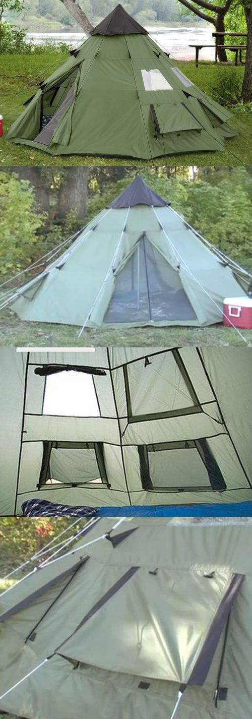 Tent and Canopy Accessories 36120 Guide Gear 10X10 Teepee Tent C&ing Hiking Outdoor Family Survival & Tent and Canopy Accessories 36120: Guide Gear 10X10 Teepee Tent ...