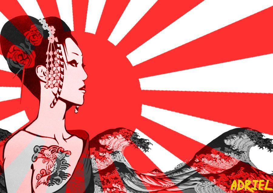 Rising Sun By Pixelatedenemy On Deviantart Rising Sun Flag Japan Art Japan Tattoo
