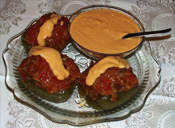 Czech Stuffed Green Bell Peppers Recipe Food Com Recipe Stuffed Peppers Czech Recipes Recipes