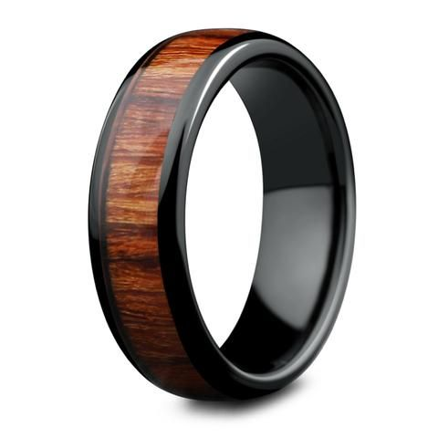 The Diamond Forest  Solitaire Wood Ring Crafted Out Of Titanium - Wood wedding ring, Wooden wedding ring, Wood wedding ring mens, Woodland wedding ring, Wooden rings, Mens wedding rings - For those who are looking for something unique that truly describes them  For the person who loves the great outdoors  This wood solitaire ring is crafted out of the highest grade titanium making it extremely durable and lightweight  This makes the perfect engagement ring or special occasion ring  Specifications Grade A Cubic Zirconia Diamond Metal Titanium Wood Type Genuine Koa Wood Band Width 4mm Gift Engagement Ring, Anniversary, Special Occasion 100% waterproof High ScratchResistant Comes With Ring Box Shipping Free Shipping on All Orders U S  Domestic Shipping 1 to 4 Days International Shipping 9 to 24 Days Canadaorders usually take 8 to 15 days  We use the United StatesPostal Service for both domestic and international shipments  You will receive an email with a tracking number when your orders ships out  If you would like to purchase expedited shipping please contact us either before you place your order or right after  All rings ship from Southeast, Michigan