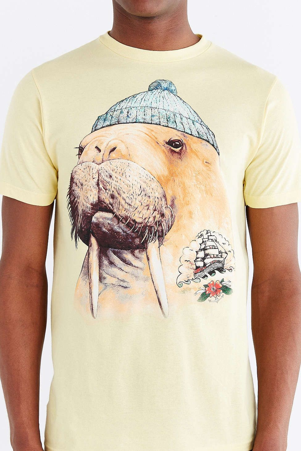 5d62213e3d Graphic T-Shirts + Sweatshirts for Men. Tattooed Walrus Tee - Urban  Outfitters