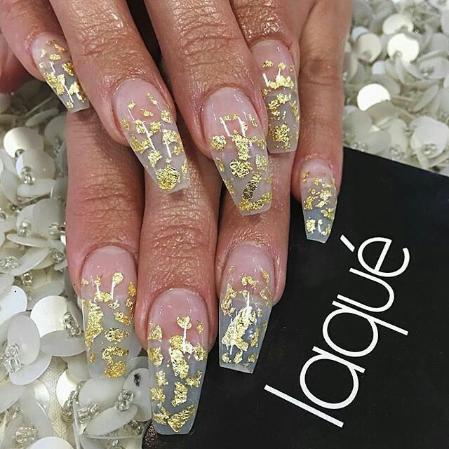 Gold Flakes Nails Cute Nail Designs My Gorgeous