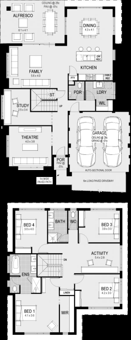 The esteem floorplan dream house plans also houses in pinterest rh