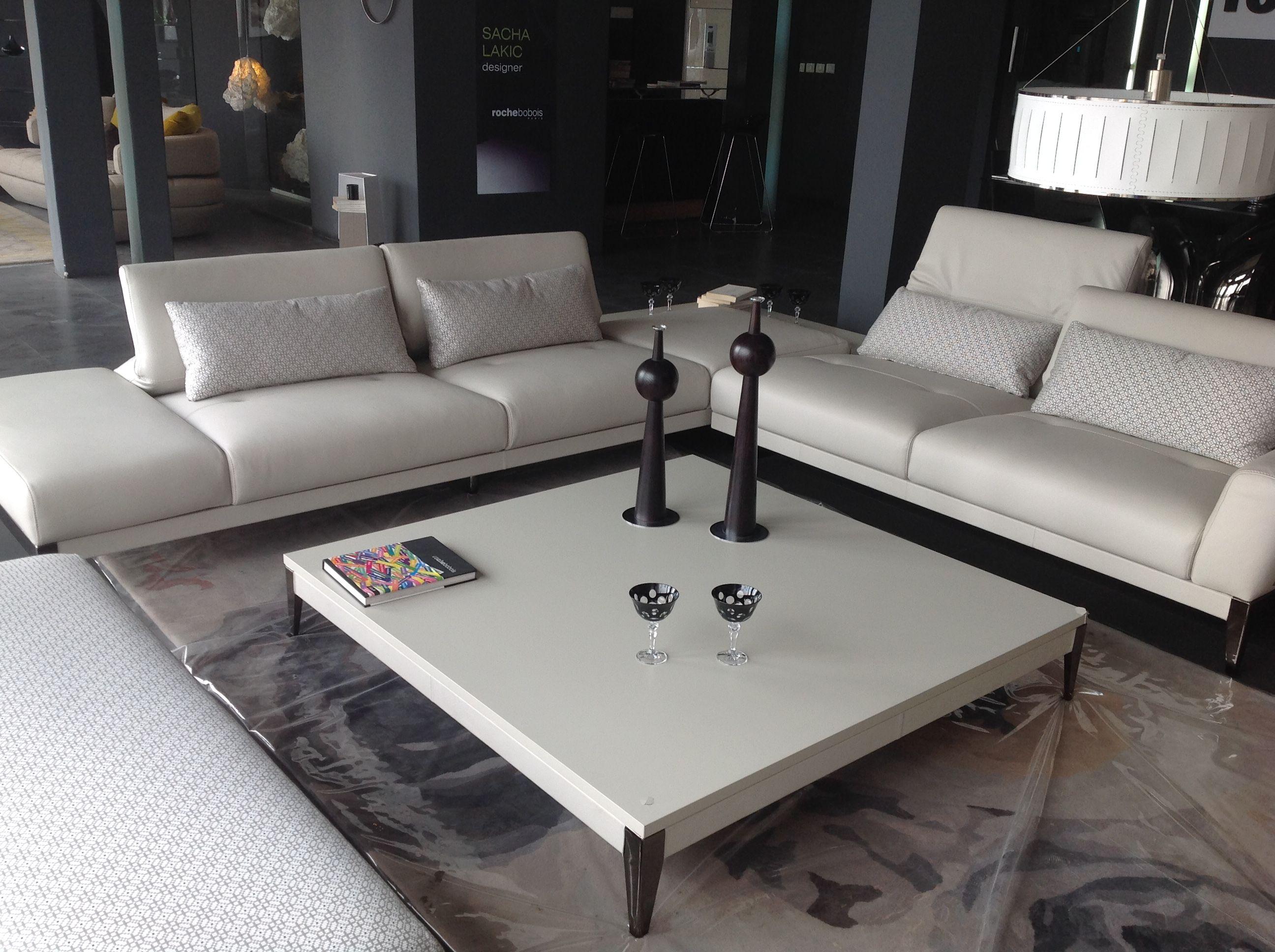 Composition D Angle Connexe Design Studio Roche Bobois Canape Cuir Deco Salon Deco