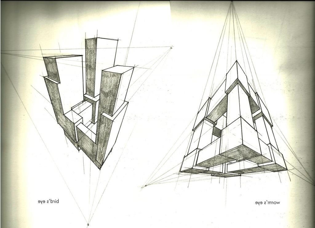 3 Perspective Drawing Space Ship 3 Point Perspective Google Search