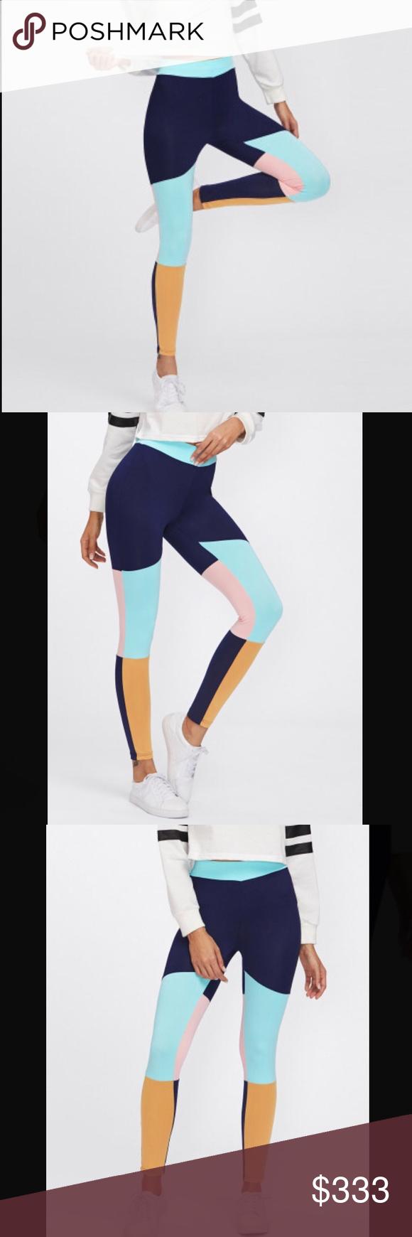 4b9e06f1d4 Spotted while shopping on Poshmark: Colorblock Yoga Leggings! #poshmark  #fashion #shopping #style #Pants