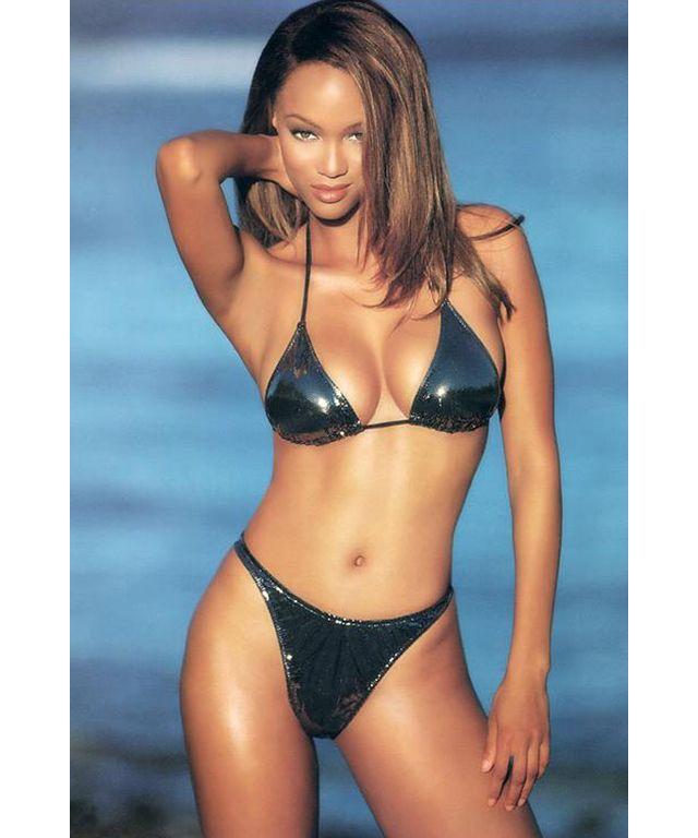 Tyra Banks Blue Bikini - Google Search