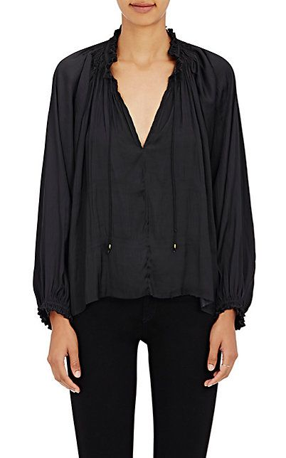We Adore: The Rosamund Matte Satin Blouse from Ulla ...