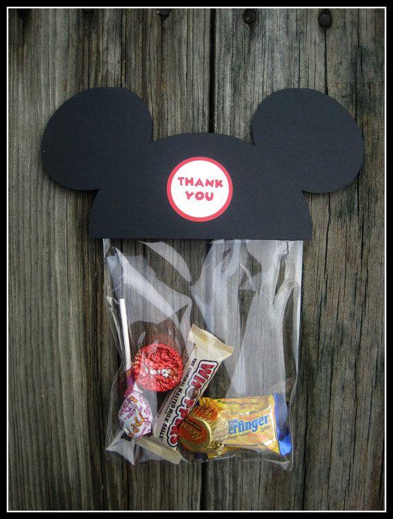 Mickey mouse treat bag set of 10 by jilliansawyer on etsy party ideas pinterest - Maison de mickey halloween ...
