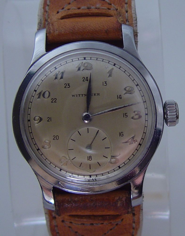 9071b9ac2848 STUNNING 1960 s VINTAGE WITTNAUER MILITARY 24 HOUR CAL 11BG2 MEN S WRIST  WATCH  Wittnauer  Military