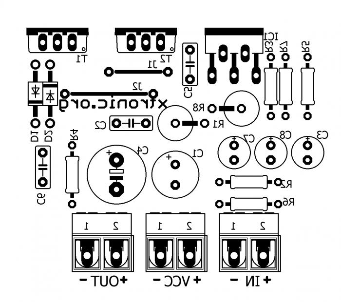 tip41 tip42 amplifier circuit diagram