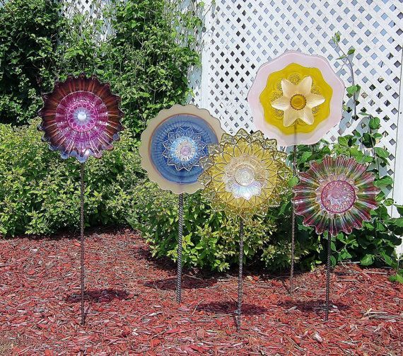 recycled glass plates