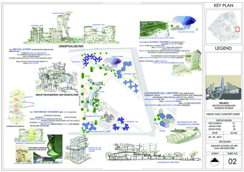 Architectural Portfolio Housing Concept Sheet Projects