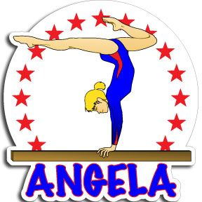 Awesome Personalized Full color Gymnastics Vinyl Decal