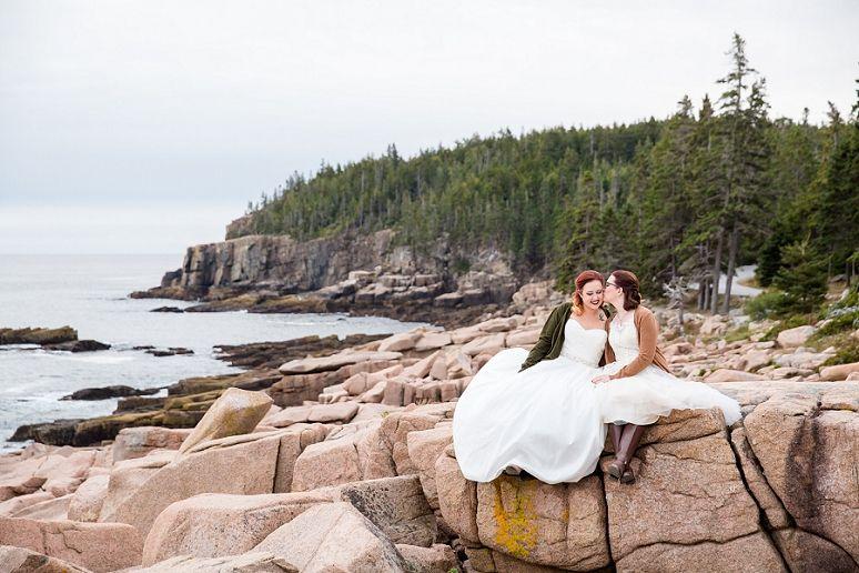 Lexi Matt Photography Bar Harbor Maine Wedding Photographer Acadia National Park Same Posing Ideas Offbeat Brides