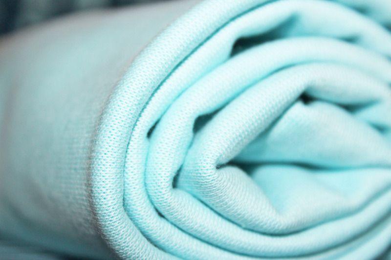 Stoffonkel - Bio-Bündchen Soft-Rib Uni-Hellblau  #stoffonkel #fabric #BIO #softrib #uni #cotton #rib #lightblue