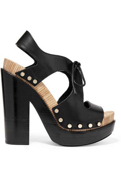 af01c89d215a BALENCIAGA Curve Cutout Leather Platform Sandals.  balenciaga  shoes   sandals