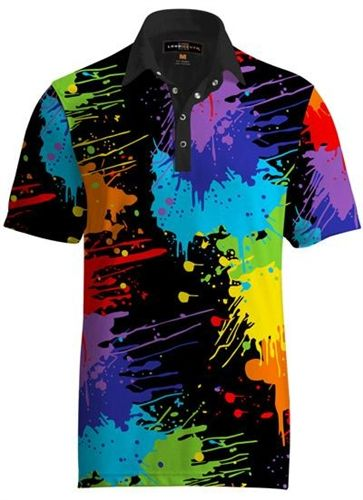 6c0e39759 Mens Golfing Shirts   Polos by Loudmouth Golf - Fancy Paint Balls. Buy it    ReadyGolf.com