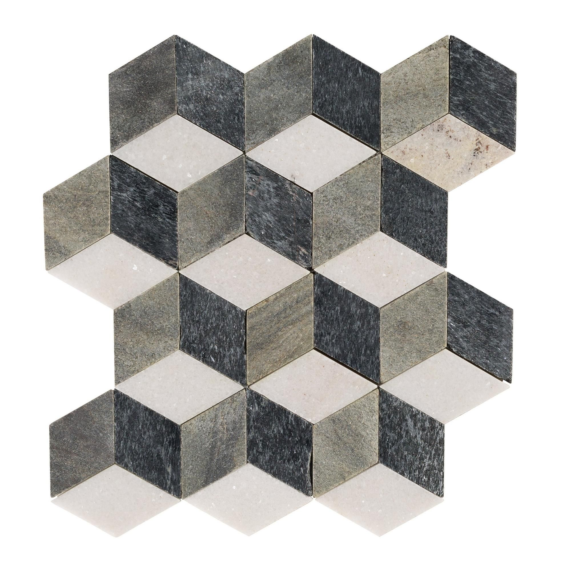 White And Black Dot Octagonal Ii Porcelain Mosaic Floor Decor In 2020 Porcelain Mosaic Black And White Tiles Mosaic Flooring